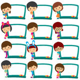Kids board frames clip art set Royalty Free Stock Image