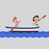 Kids on a boat ride.  Stock Photo