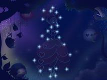 Kids book illustration. Pretty girl constellation. Royalty Free Stock Photos