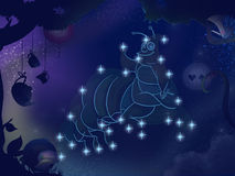 Kids book illustration. Rabbit constellation. Royalty Free Stock Photos