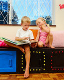 Kids book at playschool Royalty Free Stock Photography