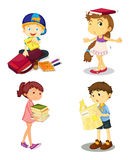 Kids and books Stock Photos