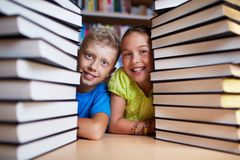 Kids and books Stock Image