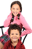 Kids, a boy and a girl Royalty Free Stock Images