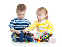 Kids boy and girl play together Royalty Free Stock Images
