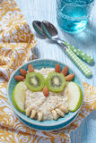 Kids breakfast porridge Royalty Free Stock Photo