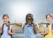 Kids with bright background Royalty Free Stock Photos