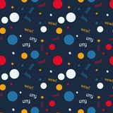 Kids bubble creative pattern. Digital design for print, fabric, fashion or presentation Royalty Free Stock Photo