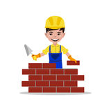 Kids builder character vector illustration Stock Photos