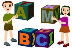Kids building blocks Royalty Free Stock Photos