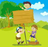 Kids builting board Stock Image