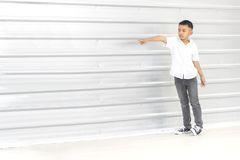 Kids bullying to friend royalty free stock photos