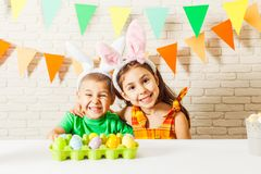 Easter morning game Stock Photography