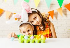 Easter morning game Royalty Free Stock Photography