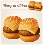 Kids burgers sliders. Detailed vector icon Royalty Free Stock Photo