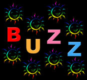 Kids Buzz Indicates Public Relations And Child Royalty Free Stock Image