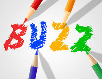 Kids Buzz Represents Public Relations And Announcement Royalty Free Stock Photos