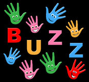 Kids Buzz Shows Public Relations And Youth Stock Photography