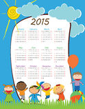 Kids calander 2015 Royalty Free Stock Images