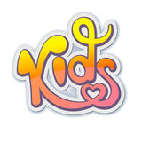 Kids calligraphic lettering. Logo, identity, package Royalty Free Stock Photography