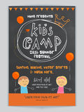 Kids Camp Template, Banner or Flyer design. Stock Images