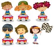 Kids car racing Stock Photo