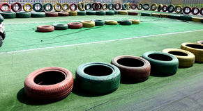 Kids car racing tyres Stock Photo