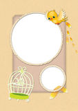 Kids card 02. Scrapbook card templates, great for Kids Photo Album Royalty Free Stock Image