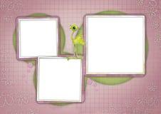 Kids card 08. Scrapbook card templates, great for Kids Photo Album Stock Photos