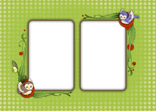 Kids card 10. Scrapbook card templates, great for Kids Photo Album Stock Image