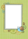 Kids card 13. Scrapbook card templates, great for Kids Photo Album Royalty Free Stock Photos