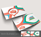 Kids Care business card Royalty Free Stock Photo