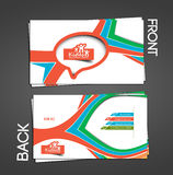 Kids Care business card. Set Vector Royalty Free Stock Image