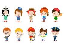 Kids Career Set Royalty Free Stock Photo