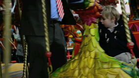 Kids Carrousel stock footage