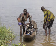 Kids carrying water, South Sudan Royalty Free Stock Photography