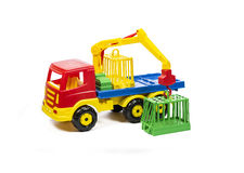 Kids cars crane stock photography