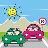 Kids and cars, game for children Stock Photo