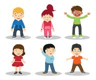 Kids Cartoon Character Illustration - Vector royalty free illustration