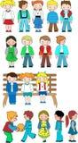 Kids cartoon set Royalty Free Stock Photography