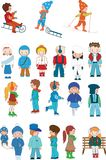 Kids cartoon set Stock Image