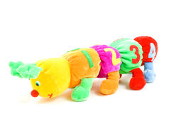 Kids caterpillar toy with 1234 (focus on the 4) Stock Photos