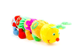 Kids caterpillar toy with abcd (focus on the A). On white Stock Photography