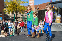 Kids on catwalk Royalty Free Stock Images