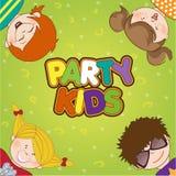Kids celebrating birthday party. Illustration Royalty Free Stock Photography