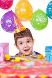 Kids celebrating birthday party Stock Photography