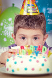 Kids celebrating birthday party Stock Images