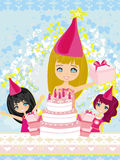 Kids celebrating a birthday party Royalty Free Stock Photo