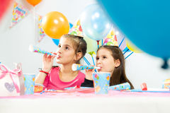 Kids celebrating birthday party Stock Photo