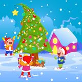 Kids celebrating Christmas Royalty Free Stock Photography